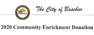 News Flash Community Enrichment Donation Announcemt