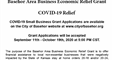 Basehor Area Business Economic Relief Grant Notice