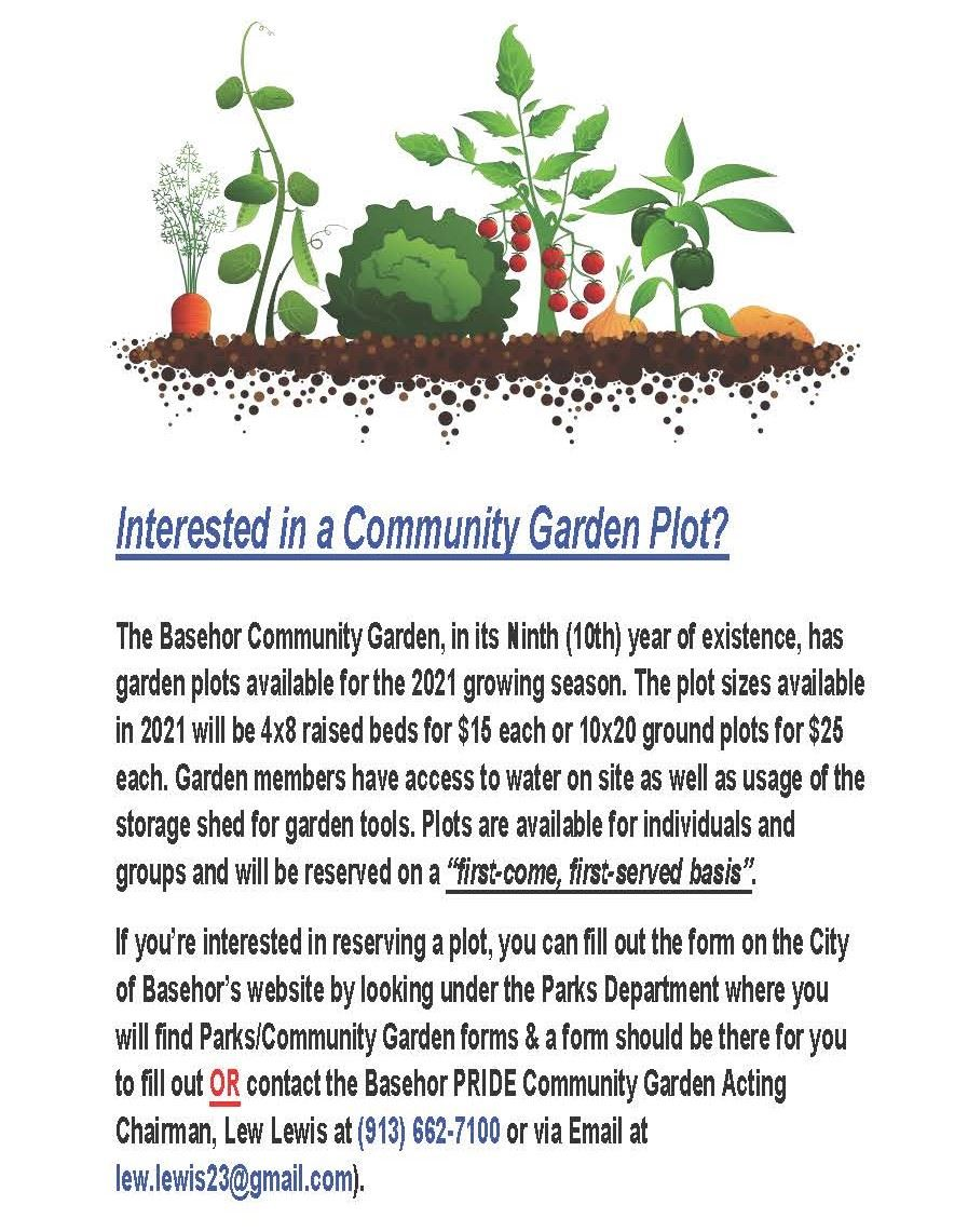 Interested in a Community Garden Plot
