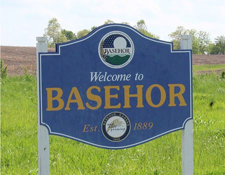 Welcome to Basehor sign